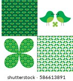 st patrick's day bird patterns | Shutterstock .eps vector #586613891