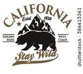 california vintage typography ... | Shutterstock .eps vector #586615361