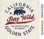 california vintage typography ... | Shutterstock .eps vector #586615364