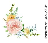 painted watercolor composition... | Shutterstock . vector #586620239