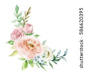 painted watercolor composition... | Shutterstock . vector #586620395