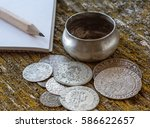 old money of the grand duchy of ... | Shutterstock . vector #586622657