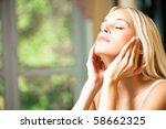 young beautiful smiling woman... | Shutterstock . vector #58662325