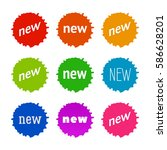 new sticker set. vector sale... | Shutterstock .eps vector #586628201