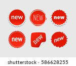new sticker set. vector sale... | Shutterstock .eps vector #586628255