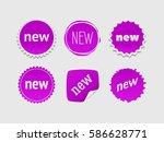 new sticker set. vector sale... | Shutterstock .eps vector #586628771
