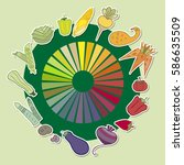 vector rainbow collection of... | Shutterstock .eps vector #586635509