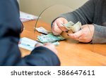 the employee receives payment... | Shutterstock . vector #586647611