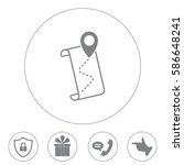 the pointer icon and route map