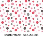 Retro Pink Red Grey Polka dot Background Pattern - stock vector