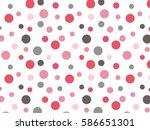 Retro Pink Red Grey Polka Dot...