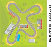 race track composition with top ... | Shutterstock .eps vector #586652915