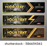 a set of modern vector banners... | Shutterstock .eps vector #586654361
