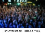 blurred background with crowded ... | Shutterstock . vector #586657481