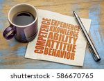competence concept    word... | Shutterstock . vector #586670765