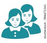 women glyph icon. flat soft... | Shutterstock . vector #586671161