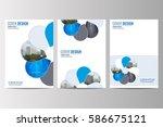 abstract flyer design... | Shutterstock .eps vector #586675121