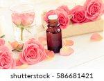 romantic aromatherapy. pink... | Shutterstock . vector #586681421