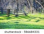 landscape of cedar hill state... | Shutterstock . vector #586684331