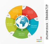 circle chart infographic...   Shutterstock .eps vector #586686719
