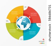 circle chart infographic...   Shutterstock .eps vector #586686731