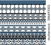 ethnic seamless pattern with... | Shutterstock .eps vector #586693301