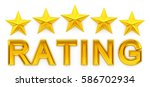 Five Star Rating   3d Rendering