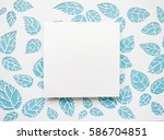 square frame on the background... | Shutterstock . vector #586704851