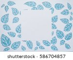 square frame on the background... | Shutterstock . vector #586704857