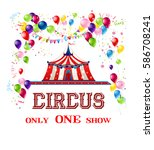 happy circus card | Shutterstock . vector #586708241