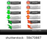 download and upload buttons... | Shutterstock .eps vector #58670887
