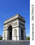 arc de triomphe by day  paris ... | Shutterstock . vector #586709615