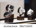 men watches in a showcase of a... | Shutterstock . vector #586710605