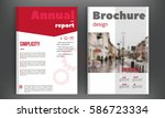 red annual report  brochure... | Shutterstock .eps vector #586723334