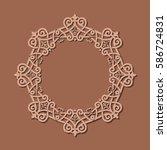 background of round pattern | Shutterstock .eps vector #586724831