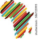 africa map silhouette icon... | Shutterstock .eps vector #586725995