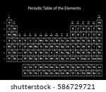 periodic table of the elements... | Shutterstock .eps vector #586729721