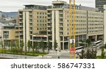 oslo  norway   august 28  thon... | Shutterstock . vector #586747331