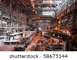 interior of metallurgical plant ... | Shutterstock . vector #58675144