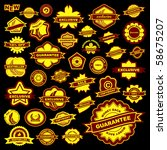 vector collection of sale signs.... | Shutterstock .eps vector #58675207