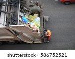 Garbage Truck  Worker Man...