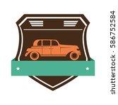 repair car service emblem | Shutterstock .eps vector #586752584
