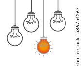 bulb light education icon   Shutterstock .eps vector #586754267