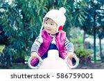 cute baby   Shutterstock . vector #586759001
