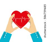 heart care isolated icon | Shutterstock .eps vector #586759685