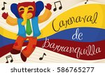 commemorative banner with happy ... | Shutterstock .eps vector #586765277