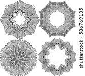 set templates mandalas black....   Shutterstock .eps vector #586769135