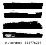 set of grunge and ink stroke... | Shutterstock .eps vector #586776299