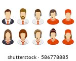set of business people icons.... | Shutterstock .eps vector #586778885
