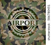 airport on camouflaged pattern | Shutterstock .eps vector #586780451